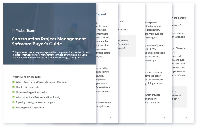 Construction Project Management Software Buyers Guide - Preview Graphic 2